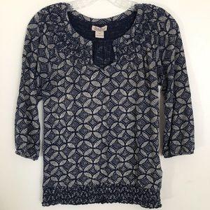 Lucky Brand Top Size XS Boho Style